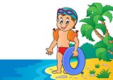 Little swimmer theme image 4
