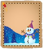Parchment with party snowman theme 2