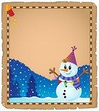 Parchment with party snowman theme 2