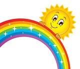 Sun holding rainbow theme 1