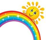 Sun holding rainbow theme 2
