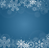 New Year Background with Snowflake. Vector Illustration
