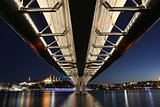 Golden Horn Metro Bridge in Istanbul, Turkey