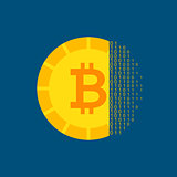 Bitcoin Cryptocurrency Concept