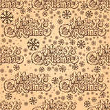 Seamless pattern with inscription Merry Christmas.