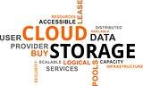 word cloud - cloud storage