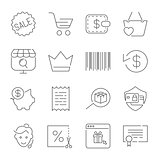 Shopping and E-Commerce pack. Line icons set for apps, programs,