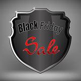 Metal Grey Shield of Black Friday Sale
