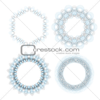 Abstract Wave Circle Frames