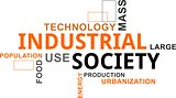word cloud - industrial society