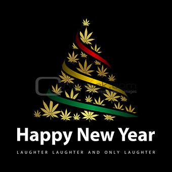 Greeting card for New Year