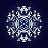 Snowflake winter symbol
