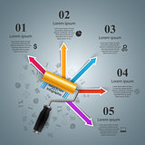 Roller paint, brush icon. Business infographics.
