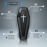 Coffin icon. Business Infographics.