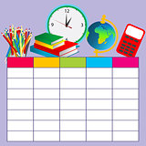 School plan schedule template