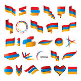 Armenia flag, vector illustration
