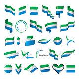Sierra Leone flag, vector illustration