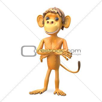 3D Illustration an Important Monkey