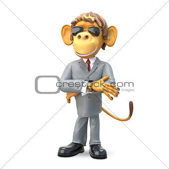 3D Illustration Monkey Boss