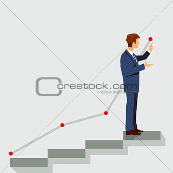 Career plan, symbol illustration