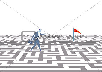 Business strategy concept, illustration