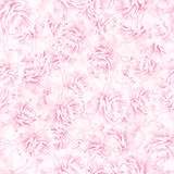 SEAMLESS pattern of pink peony blossoms