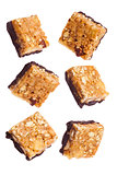 Protein cereal energy mini bars nuts chocolate