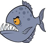 Hungry piranha. Vector illustration eps.