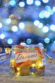 Big dreams saving money jars