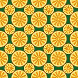 Orange fruit pattern yellow and green