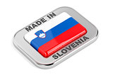Silver badge, made in Slovenia