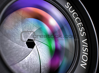 3d Lens of Digital Camera with Success Vision