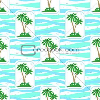 Seamless Pattern, Palms