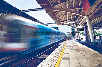 Skytrain.Bangkok cityscape