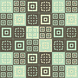 Brown blue and cream squares inside squares cube pattern background wallpaper