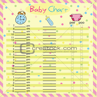 Baby chart for moms - colorful vector illustration