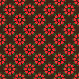 Abstract seamless brown strawberry background