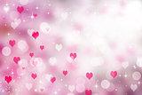 pink white Valentine hearts