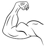 Strong Male Arm. Symbol of Power and Muscle