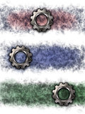 gear wheel banner background - 3d rendering