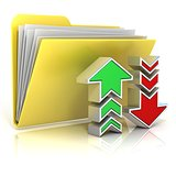 Upload, download folder icon