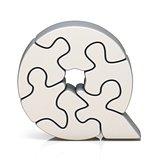 White puzzle jigsaw letter Q 3D