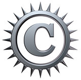 copyright symbol with spikes