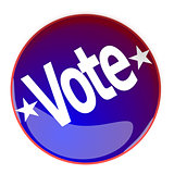 Glossy button with the word Vote