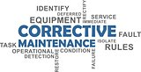word cloud - corrective maintenance