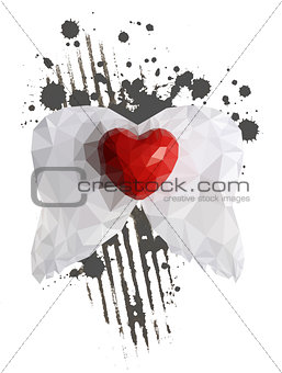 abstract heart with wings