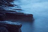 Evening sea long time exposure