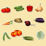 vegetables: corn, potatoes, tomatoes, carrots, peppers