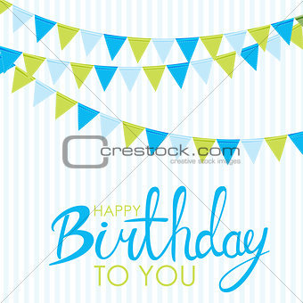 Abstract Happy Birthday Background Card Template Vector Illustration