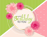 Abstract Happy Birthday Balloon Background Card Template Vector Illustration